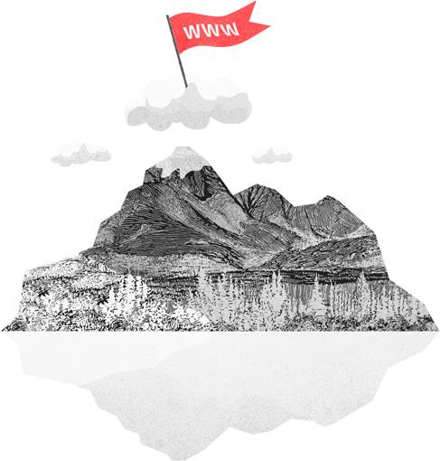 imagen de cumbre de montaña representando servico posicionamiento web
