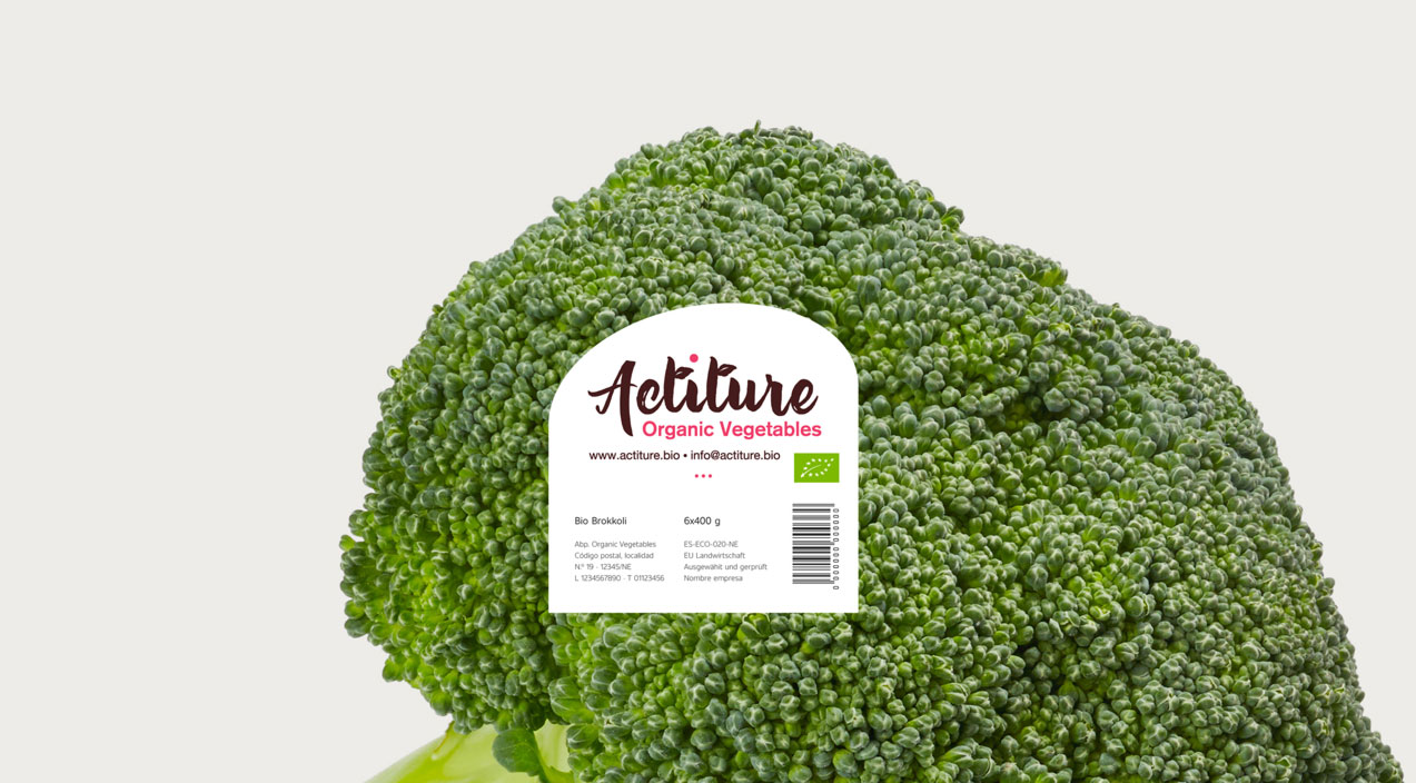 diseño de etiqueta alimenticia de Actiture