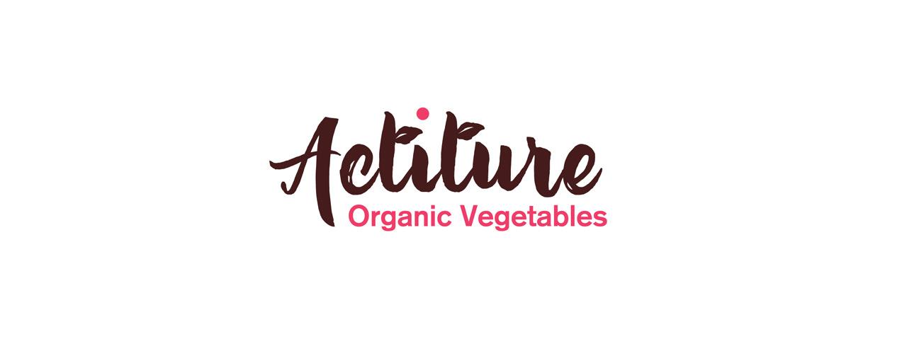 diseño de logotipo de Actiture Organic Vegetables