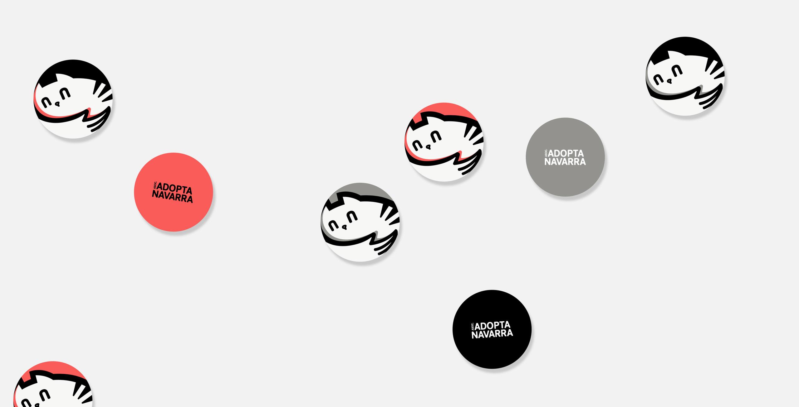 diseño de chapas corporativas para Adopta Navarra