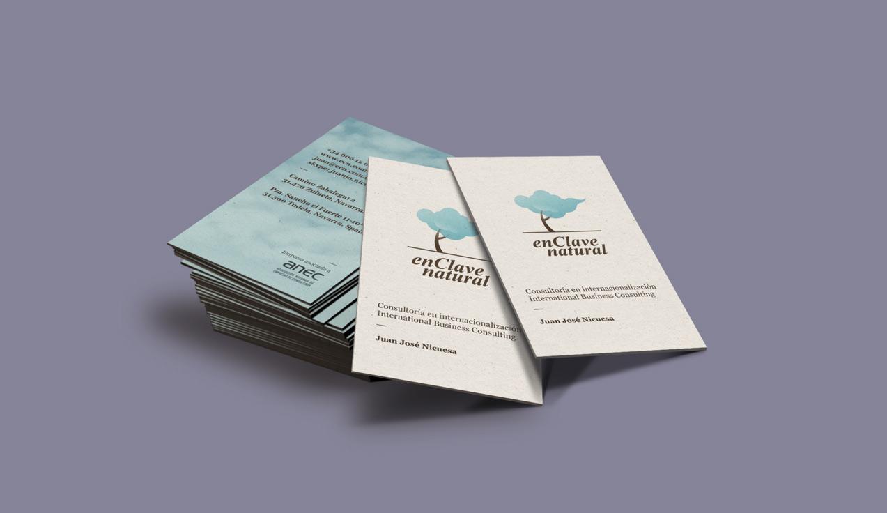 diseño de tarjetas de visita de En Clave Natural