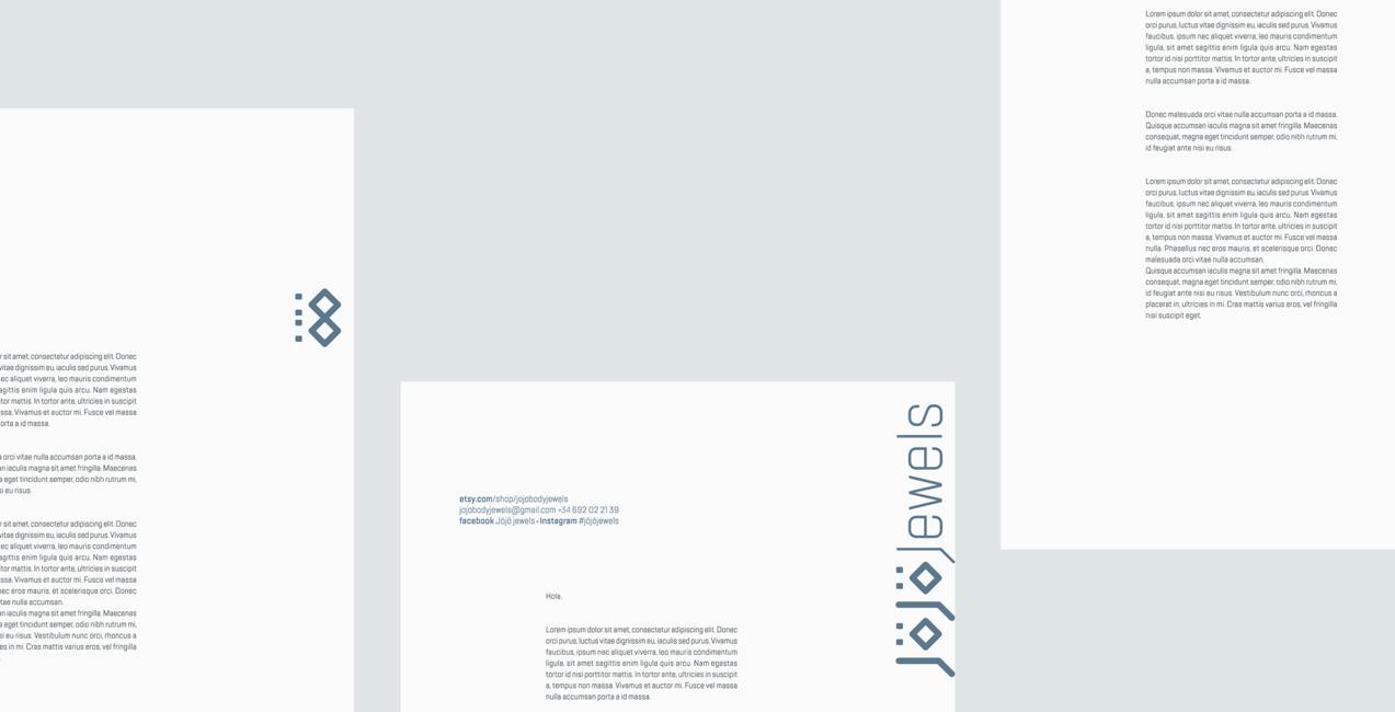 diseño de papelería corporativa de jojo jewels