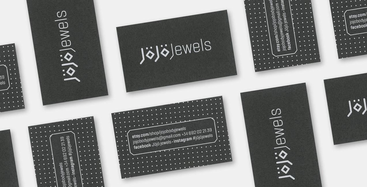 diseño de tarjetas de visita de jojo jewels