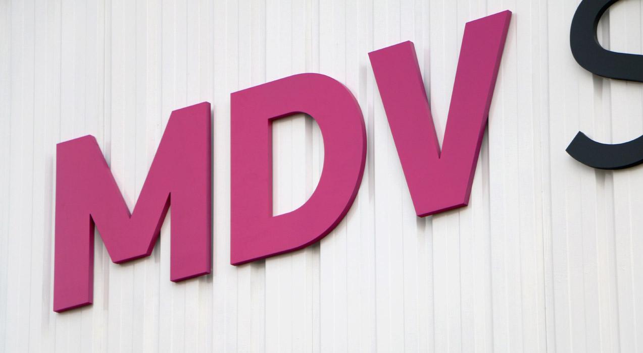 detalle de rótulo fachada de MDV