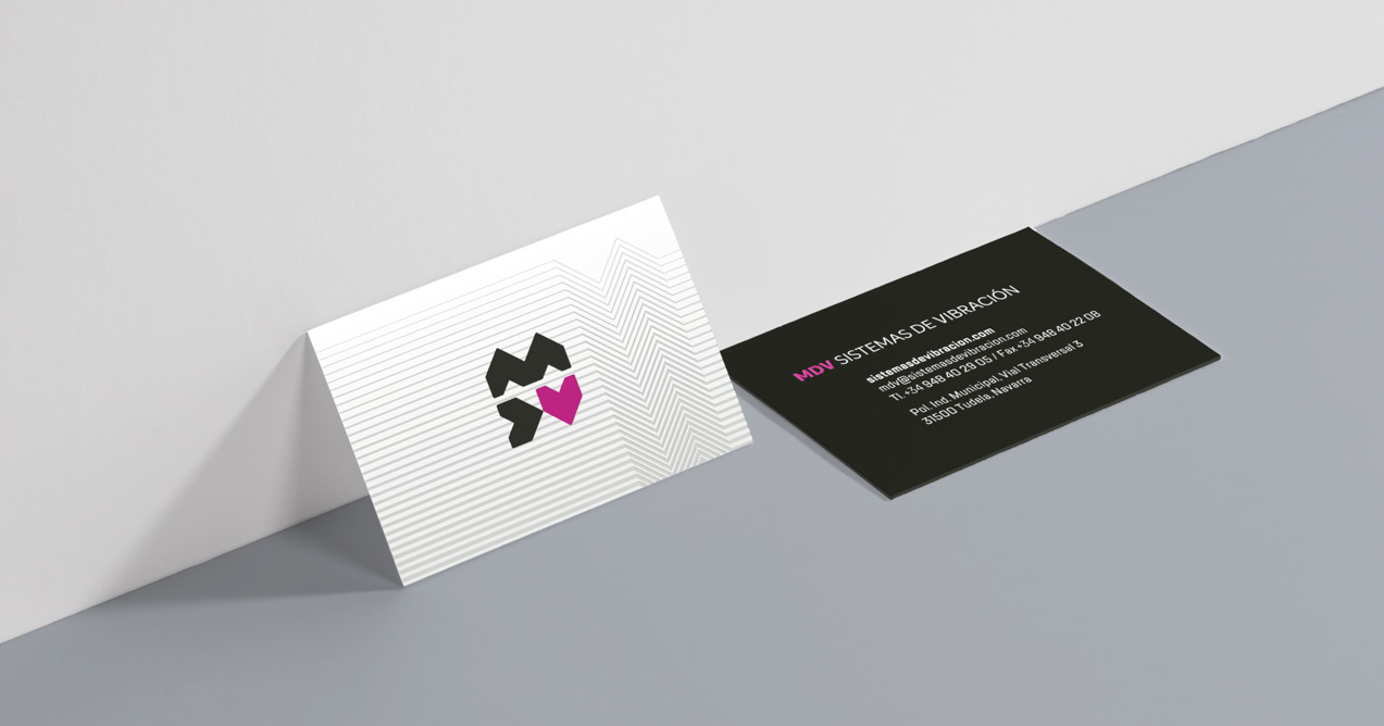diseño de tarjeta de visita de MDV