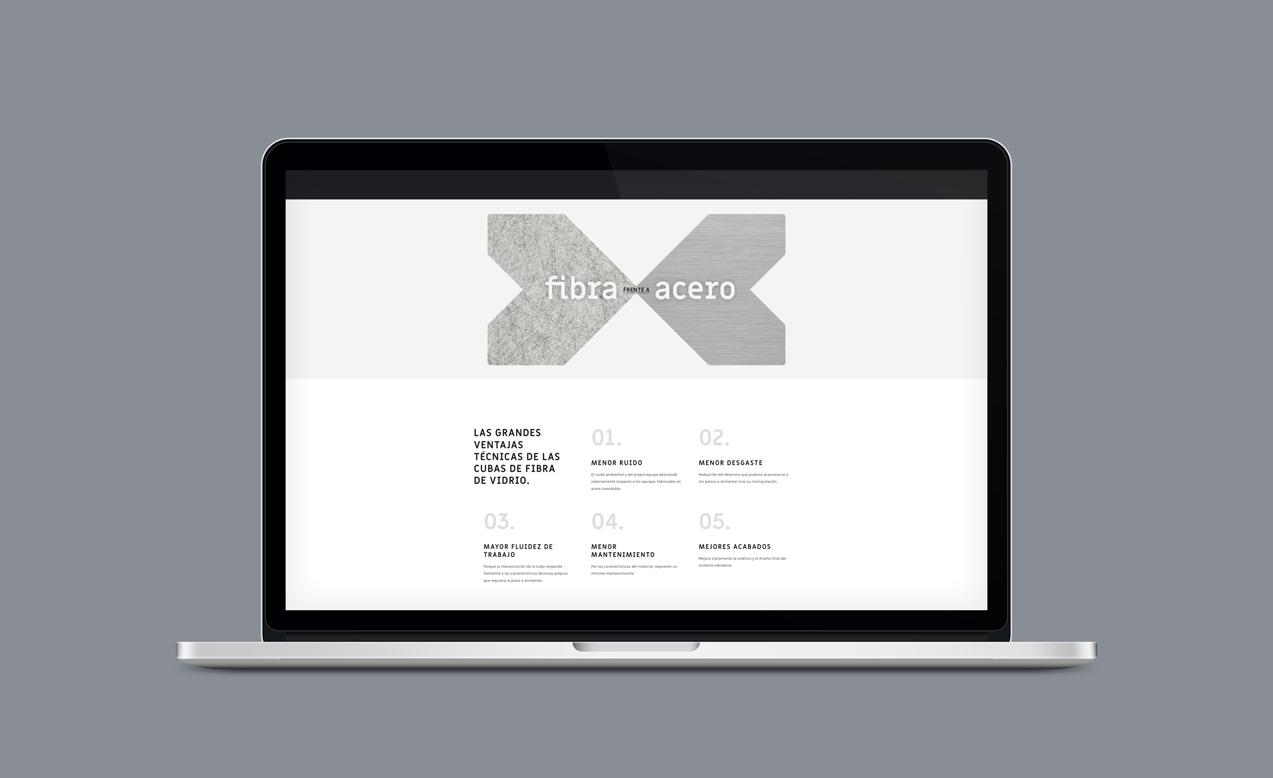 presentación en laptop de sieño de web para MDV