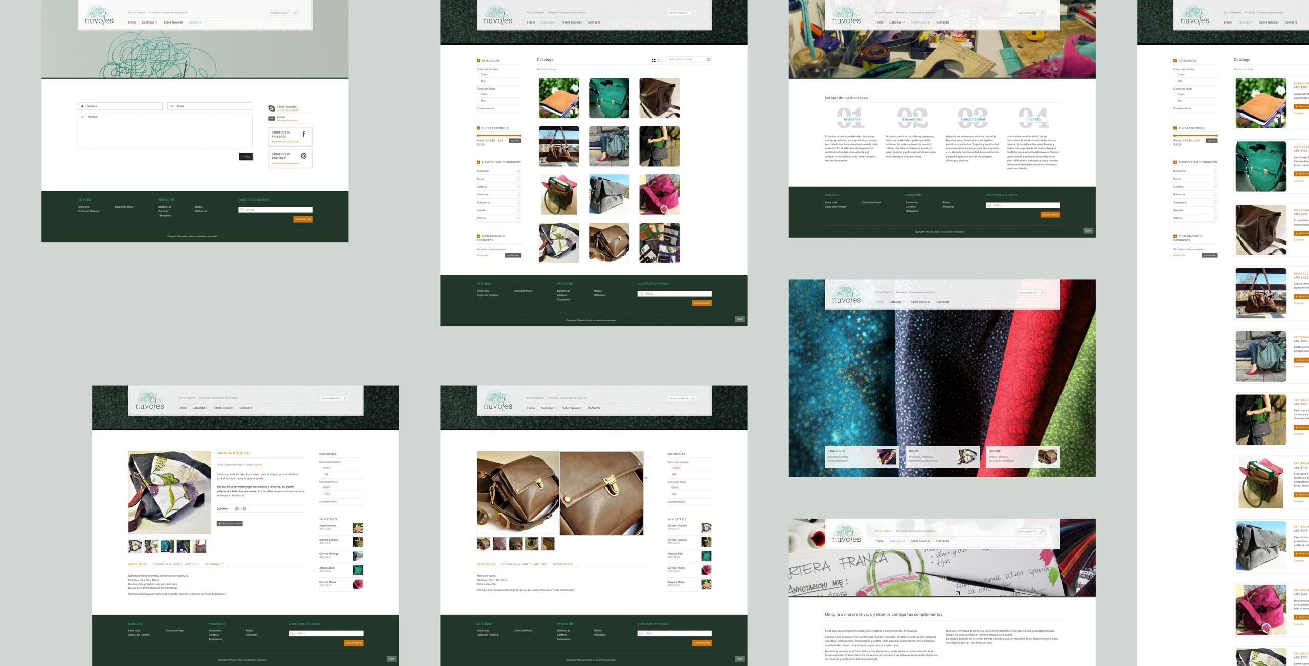 diseño de tienda online para nuvoles