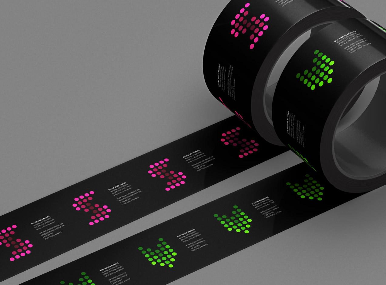 diseño de cintas de embalar corporativas para NVM & RSM