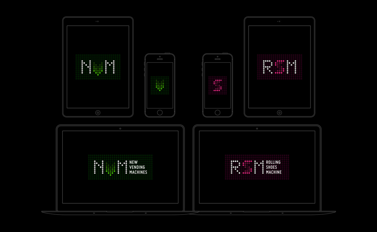Diseño de coportamiento de logotipos responsivos de NVM & RSM