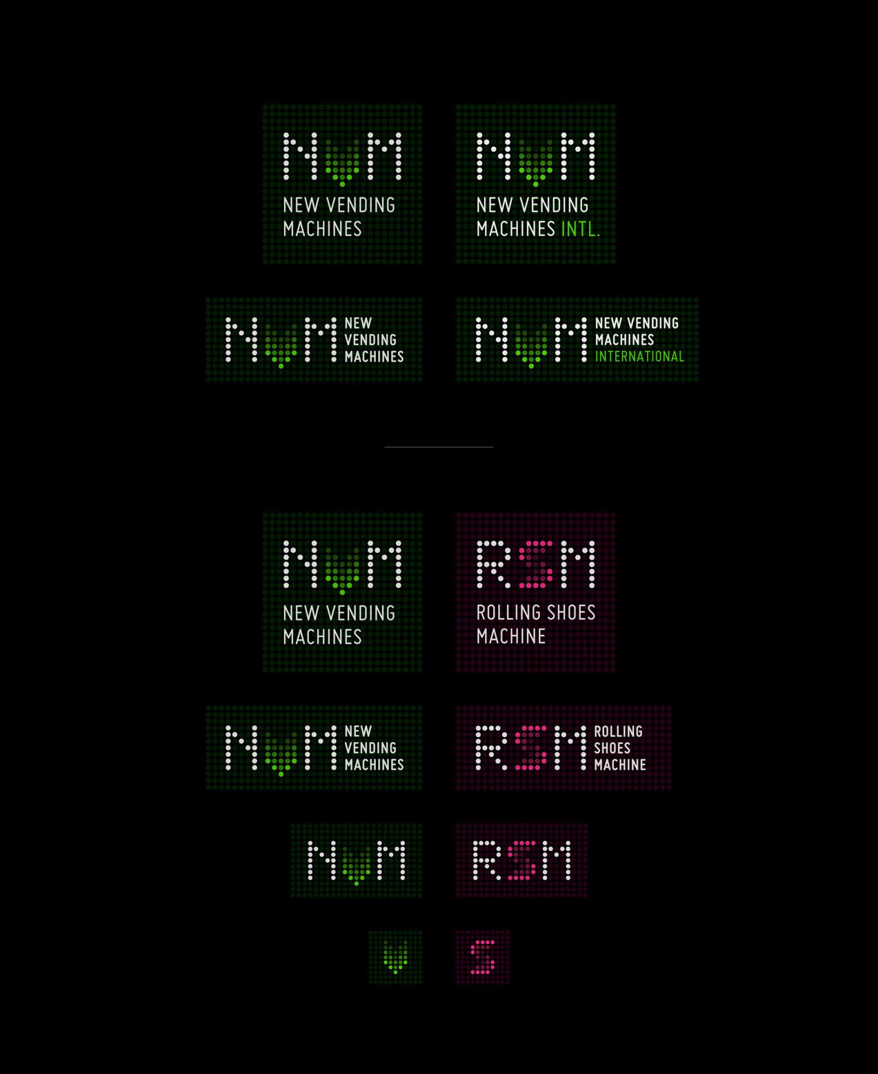 Diseño de logotipos responsivos de NVM & RSM