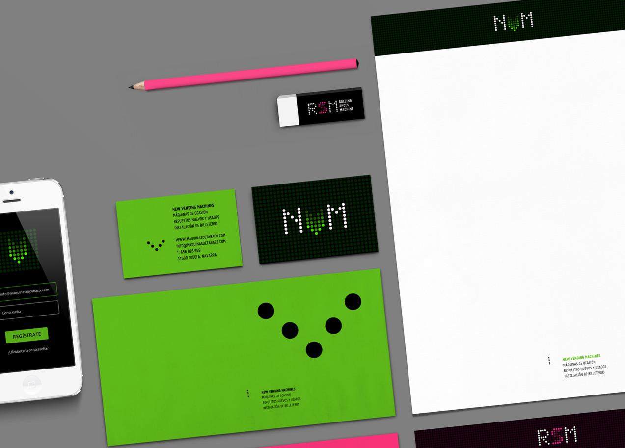 Diseño de papelería corporativa de NVM & RSM