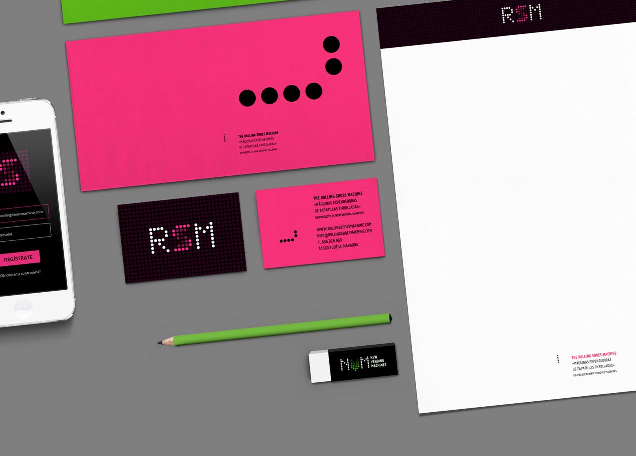 Detalle de papelería corporativa de NVM & RSM