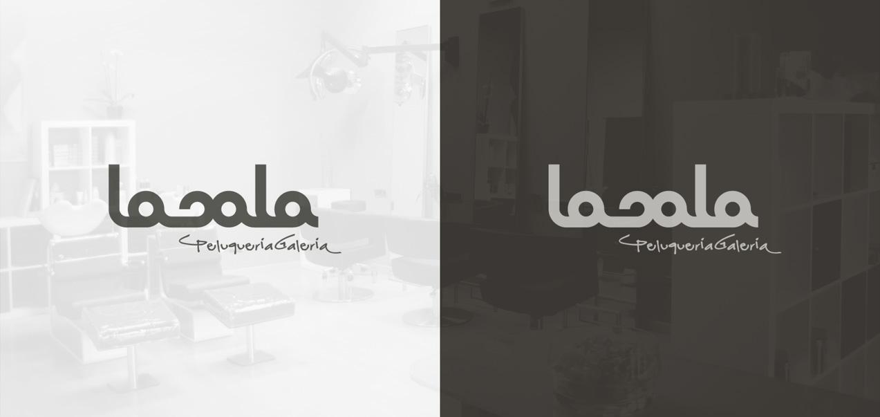 diseño de logotipo lasala peluquería