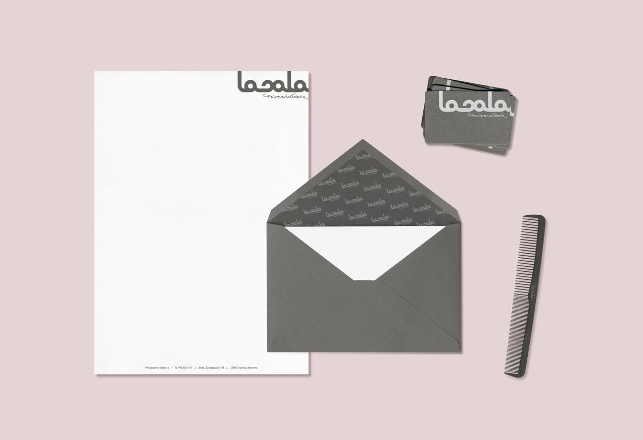 diseño de papelería corporativa lasala peluquería