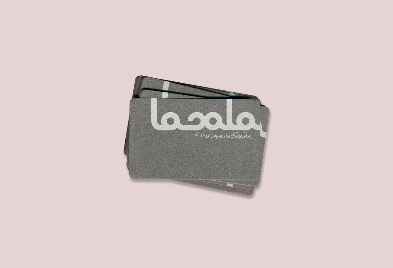 diseño tarjetas de visita peluquería lasala