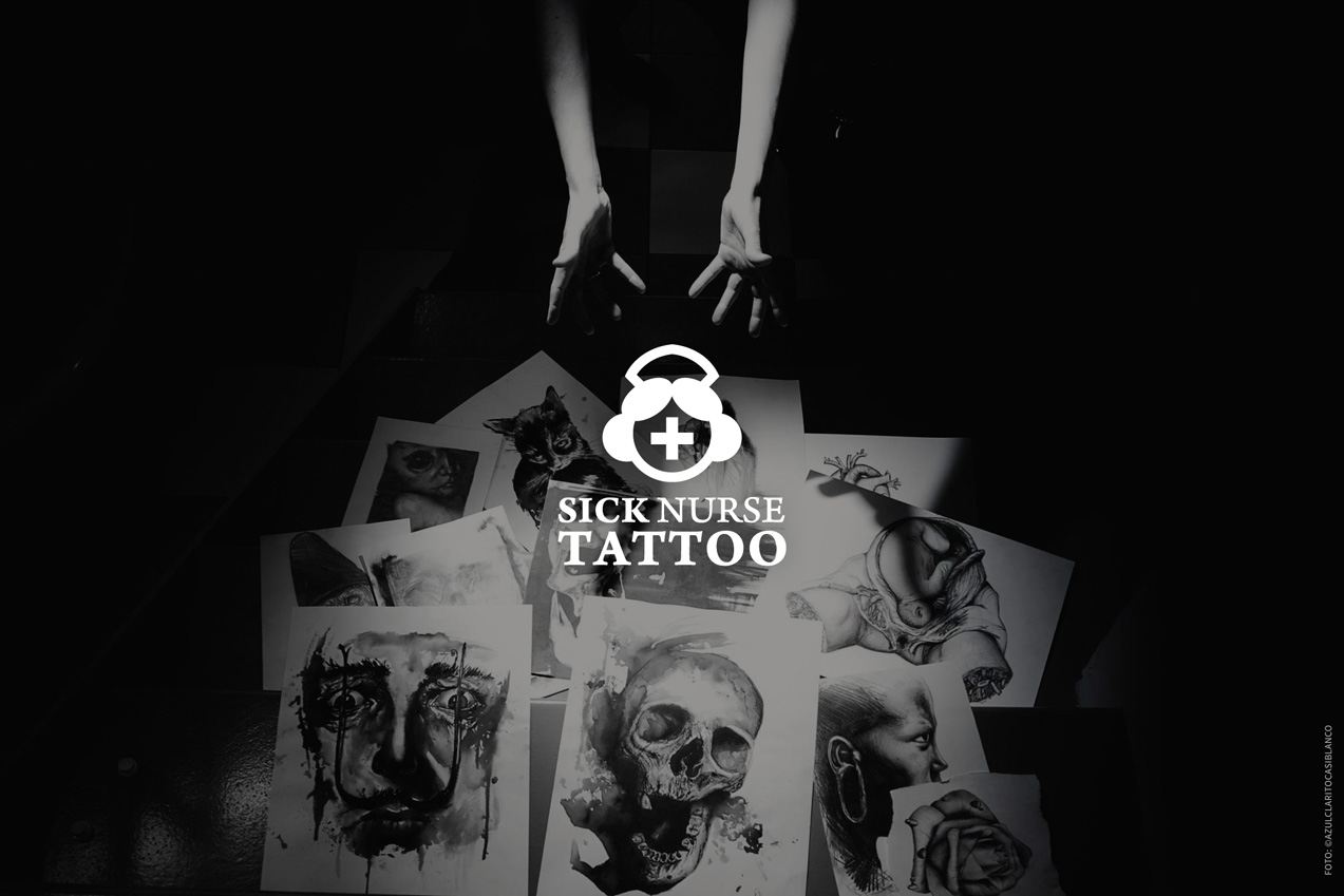 diseño de material promocional online para Sick Nurse Tattoo