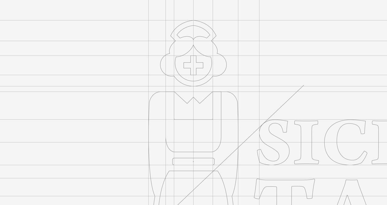 detalle de diseño de logotipo de Sick Nurse Tattoo