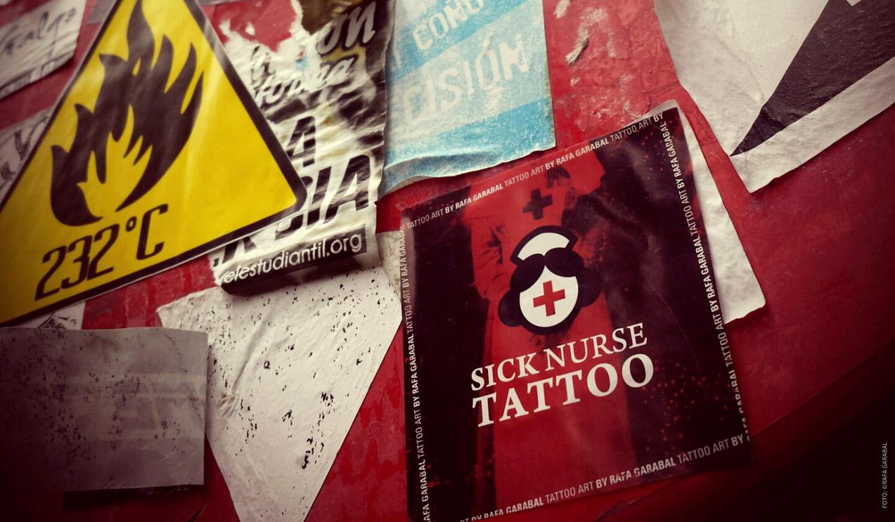diseño de sitcker de Sick Nurse Tattoo