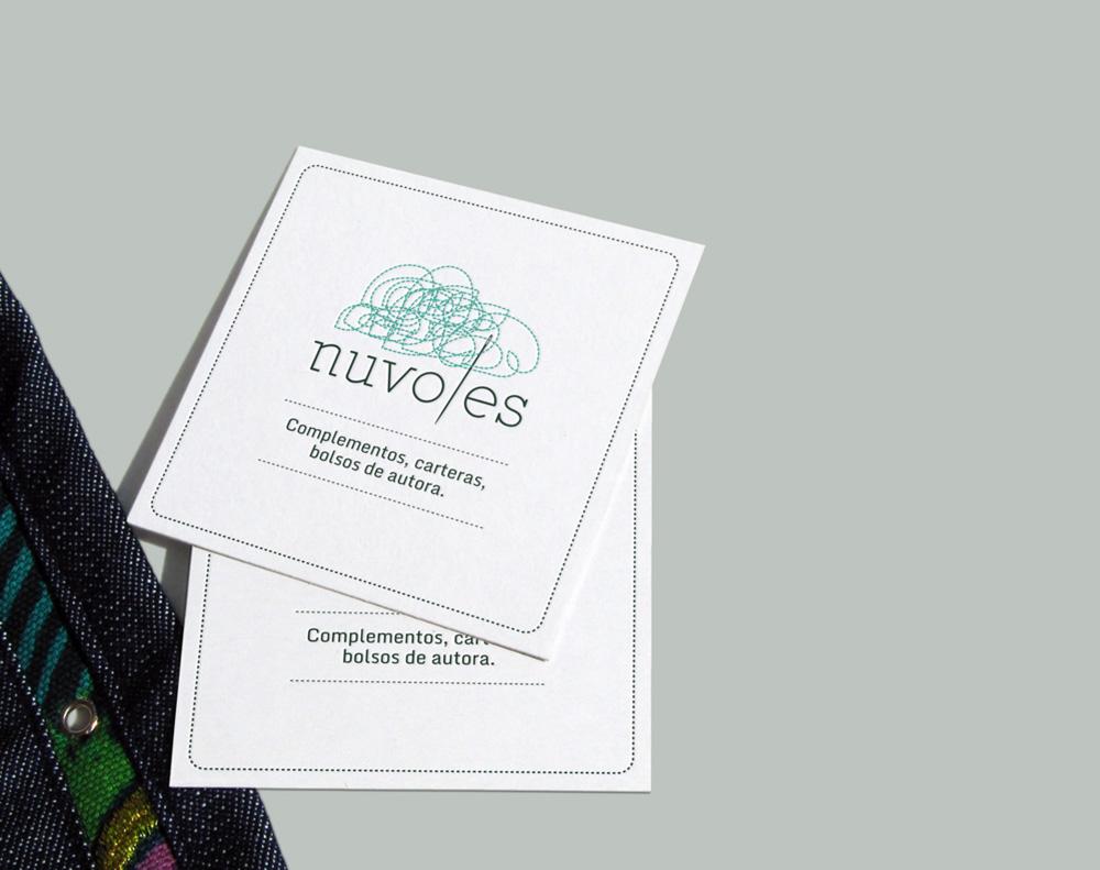 diseño de tarjetas de visita para Nuvoles
