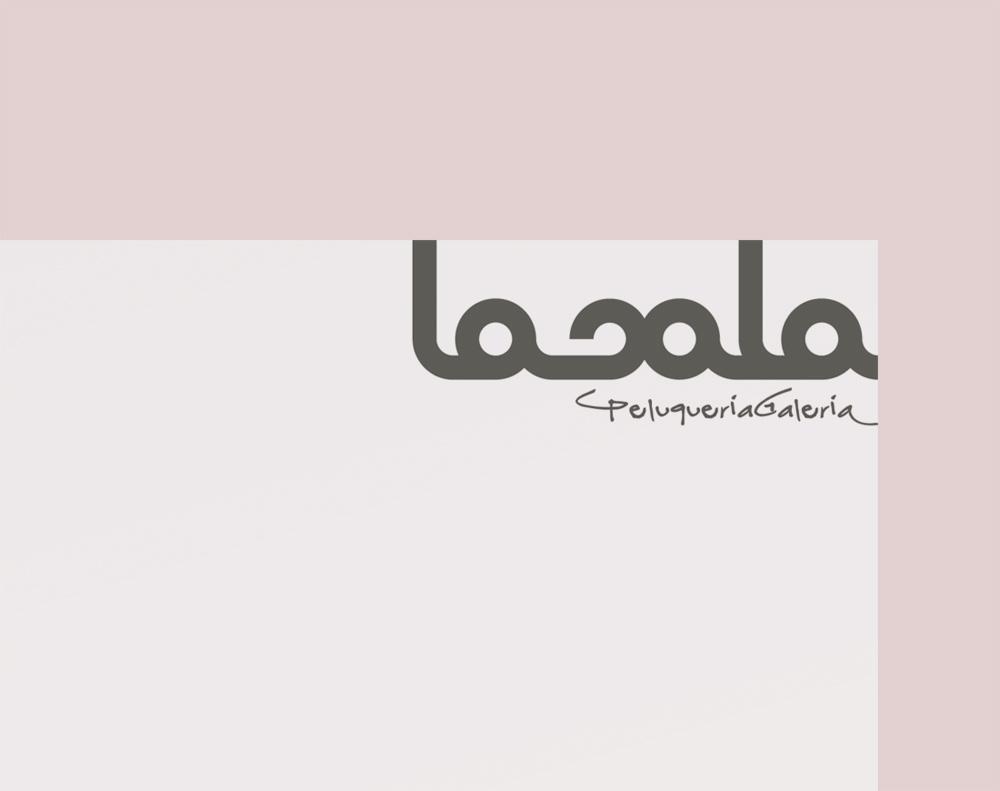 diseño de logotipo para Lasala Peluquería Galería