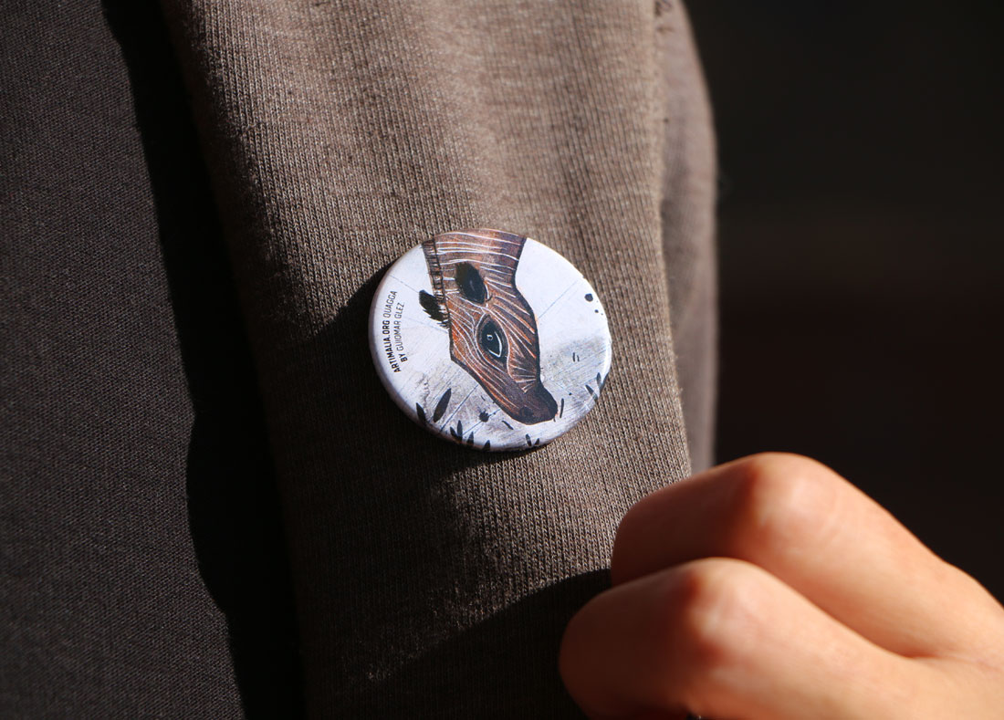 detalle de diseño de chapa para Artimalia