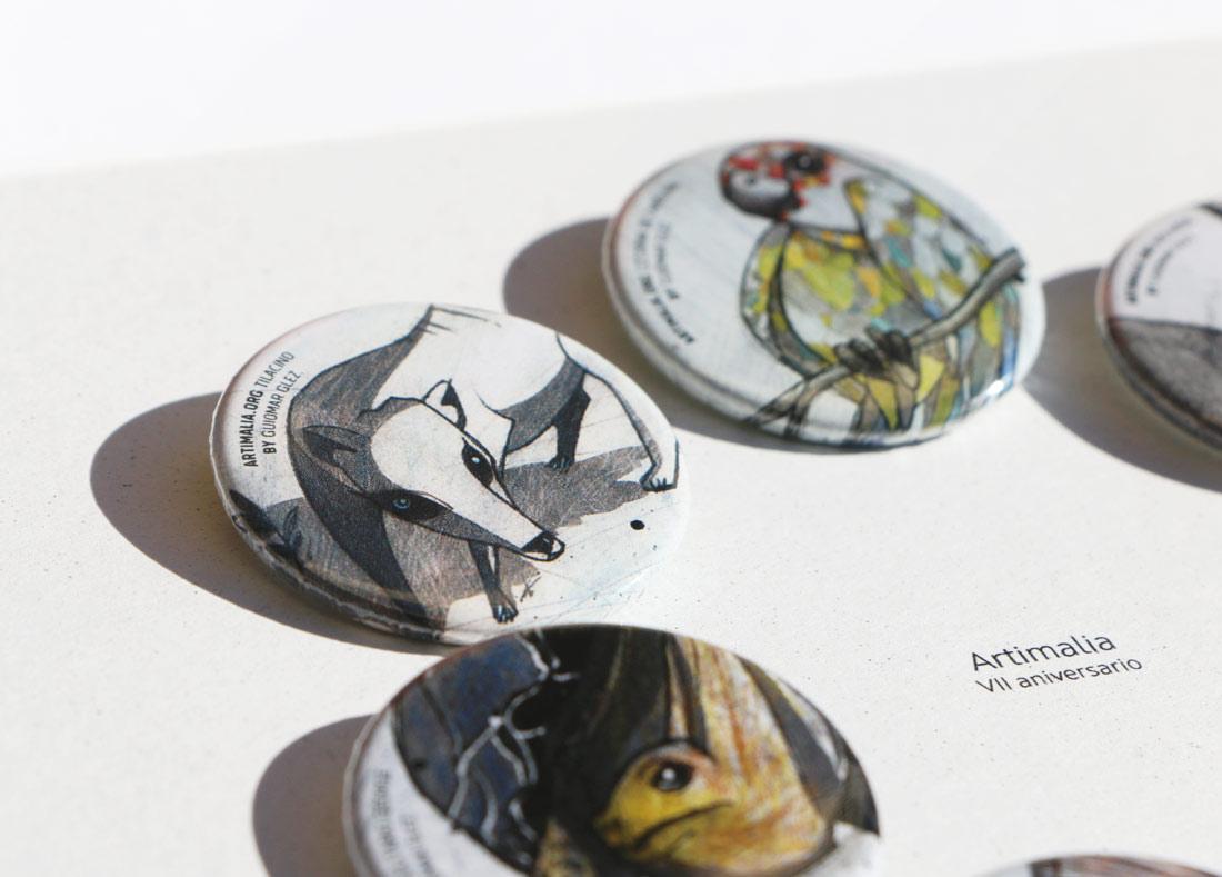 diseño de material promocional para Artimalia