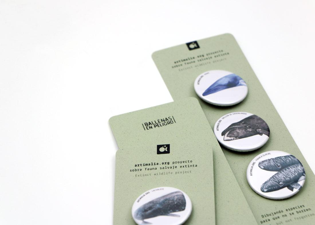 diseño de packs de chapas para Artimalia