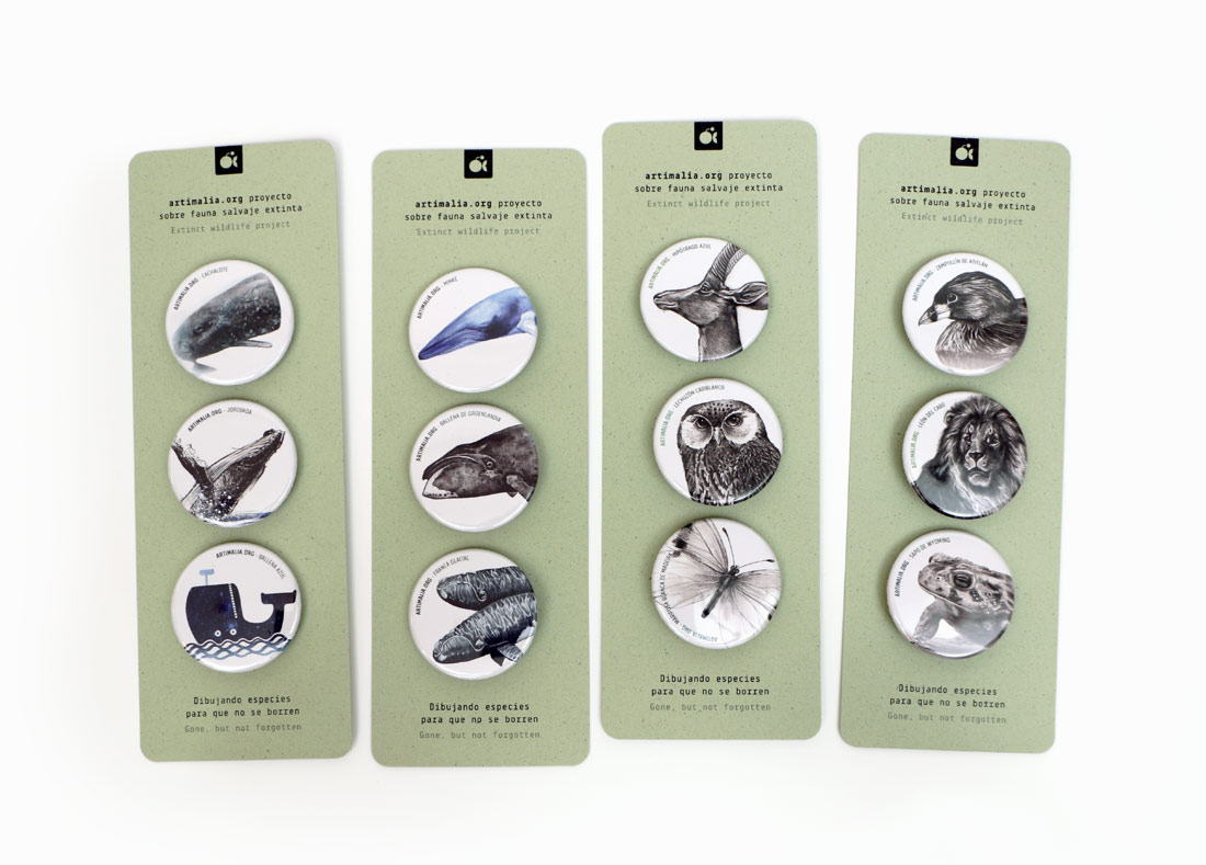 4 diseños de packs de chapas para Artimalia