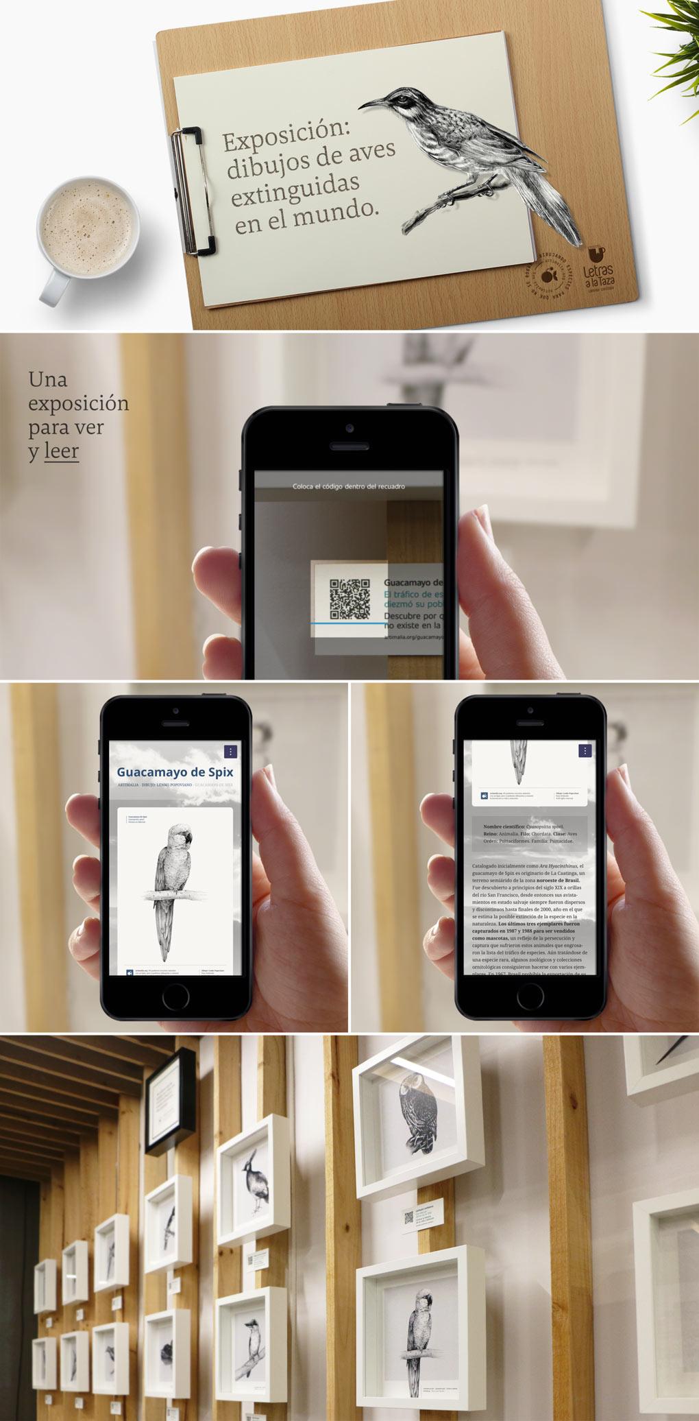 diseño de exposición interactiva para Artimalia