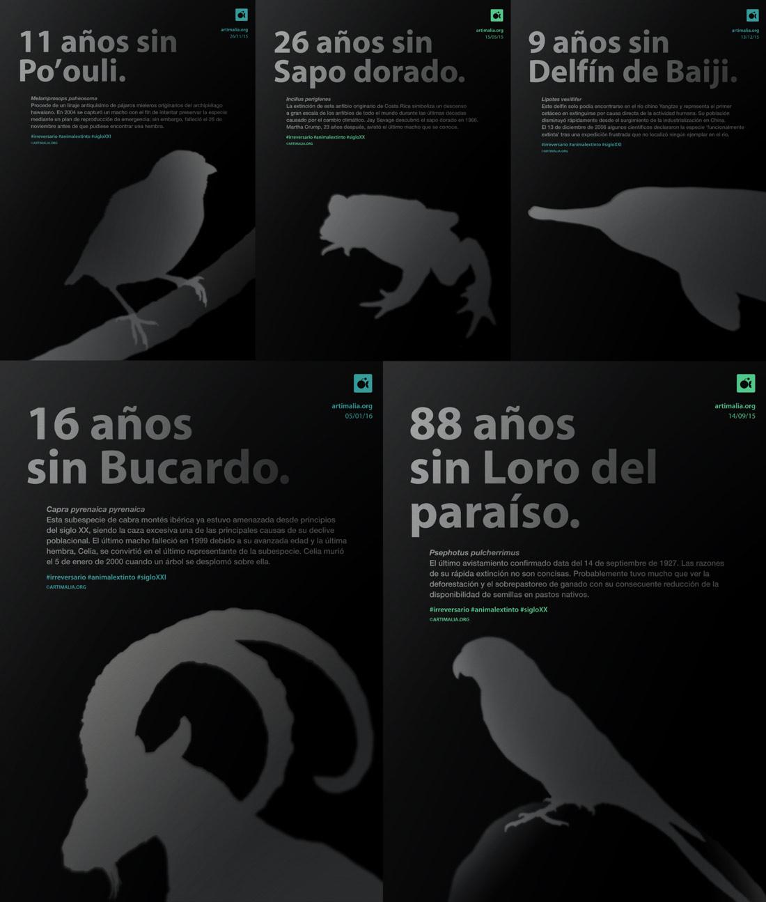 diseño de carteles para Artimalia