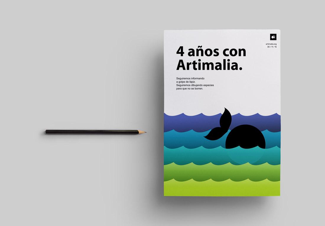 diseño de cartel para Artimalia