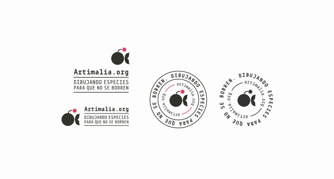 diseño de versiones de logo de Artimalia