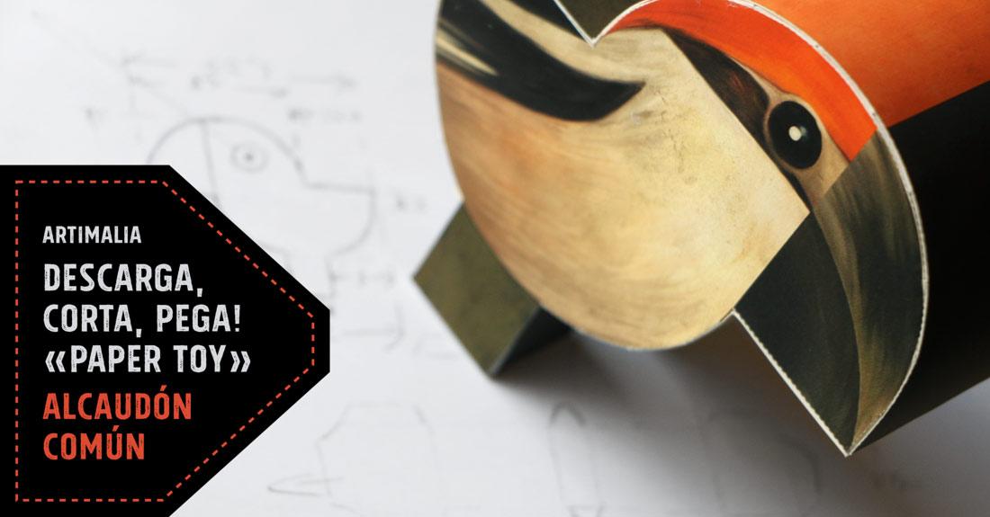 diseño de paper toy para Artimalia