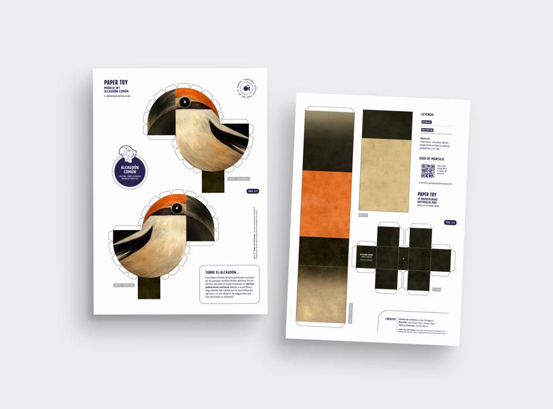 diseño de paper toy completo para Artimalia