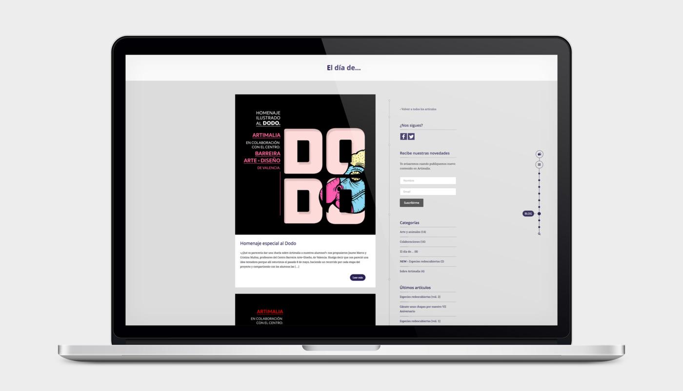 presentación responsiva en portatil de diseño de artimalia.org
