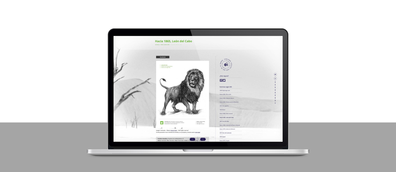 presentación en laptop de diseño web para artimalia.org