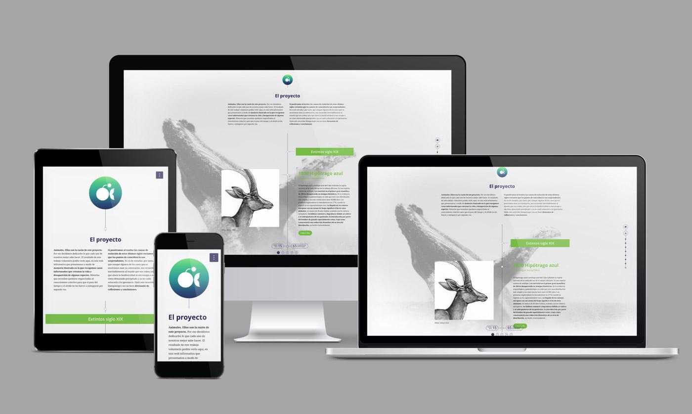 presentación en diferentes dispositivos de diseño de layout para artimalia.org
