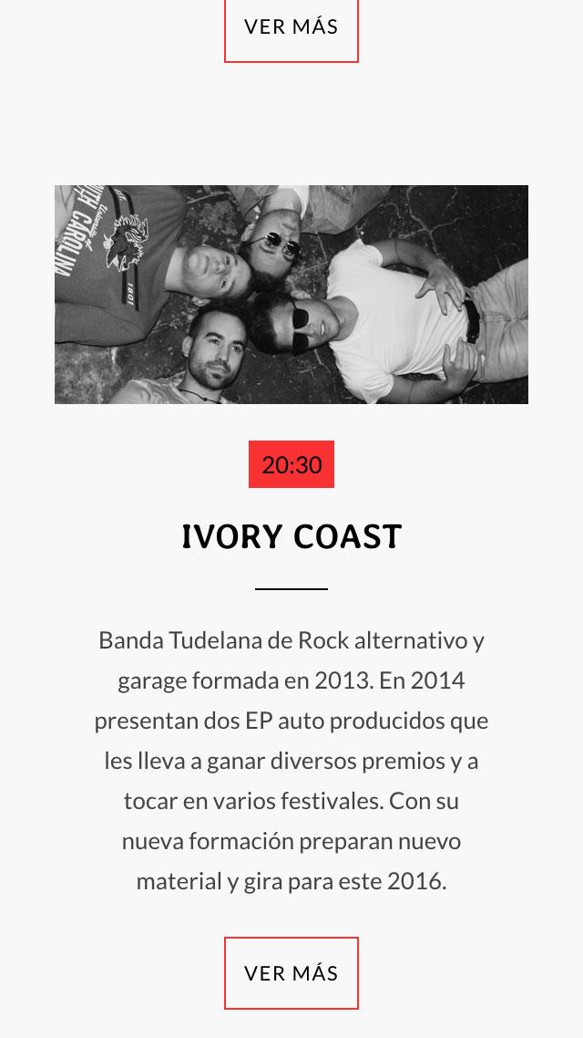 diseño de pantalla móvil de banda Ivory Coast para Ebrock Festival