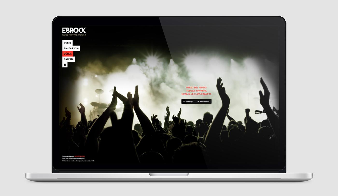 diseño de página web para festival de música Ebrock sección Contacto