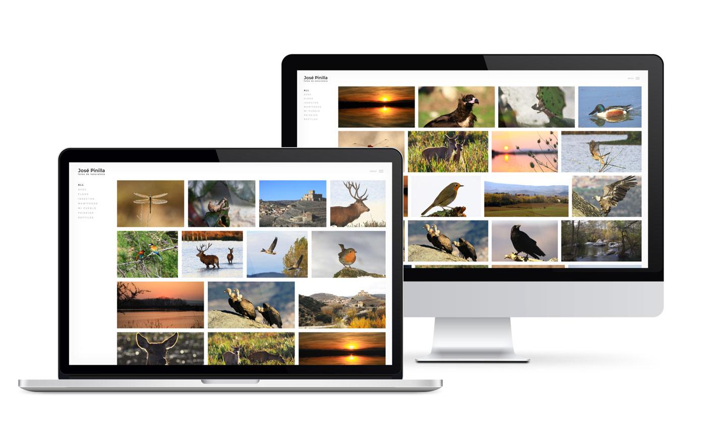 Pagina web para albumes fotograficos de paisaje y naturaleza