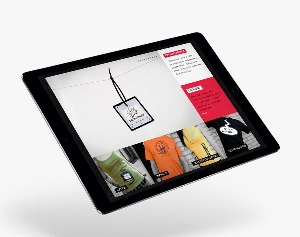 presentación responsiva en ipad de diseño de caravelusa.com