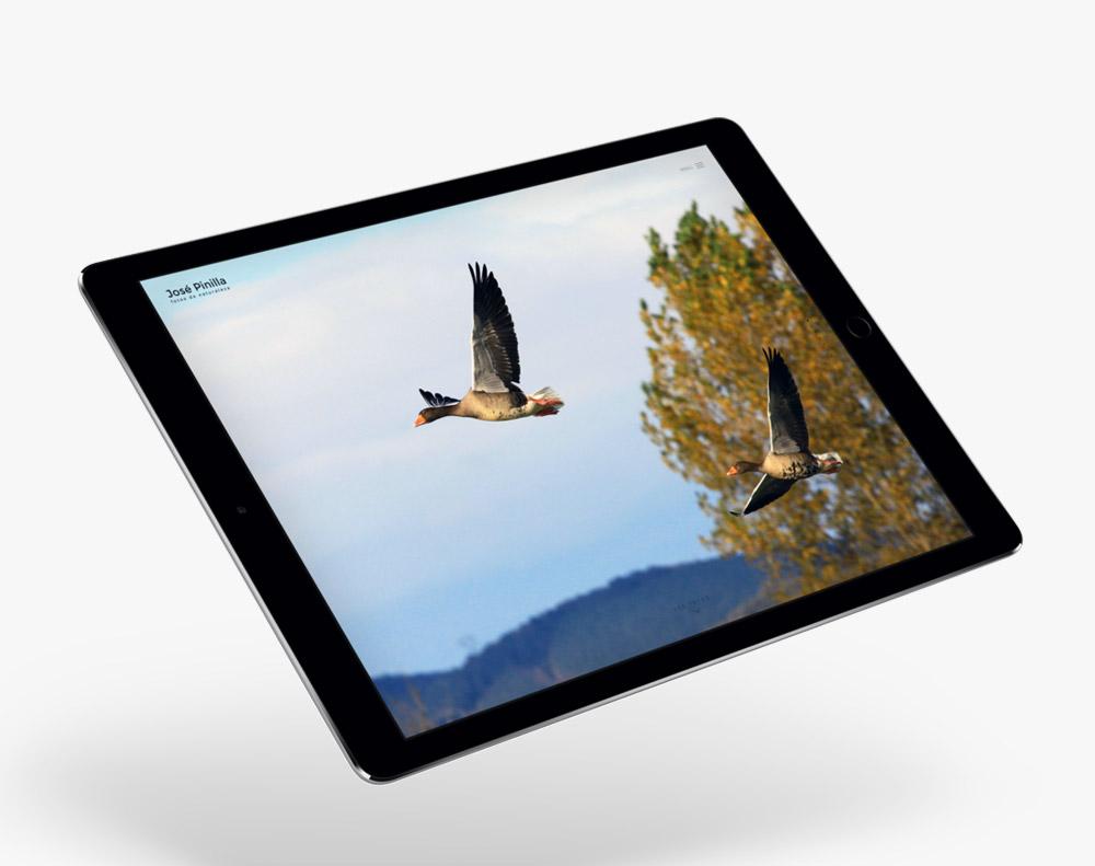 presentación responsiva en ipad de diseño de josepinillafoto.es