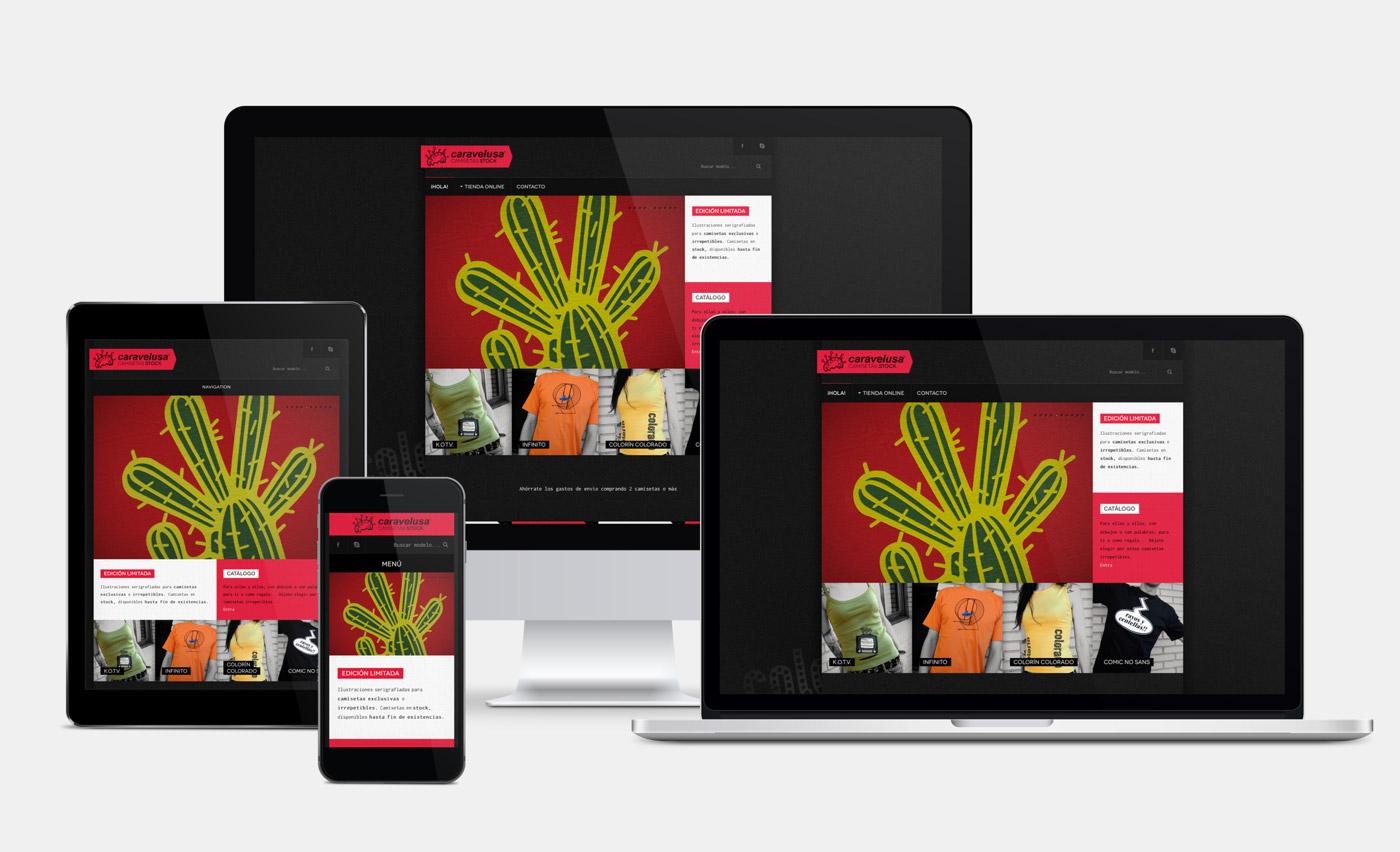 diseño de ecommerce para Caravelusa