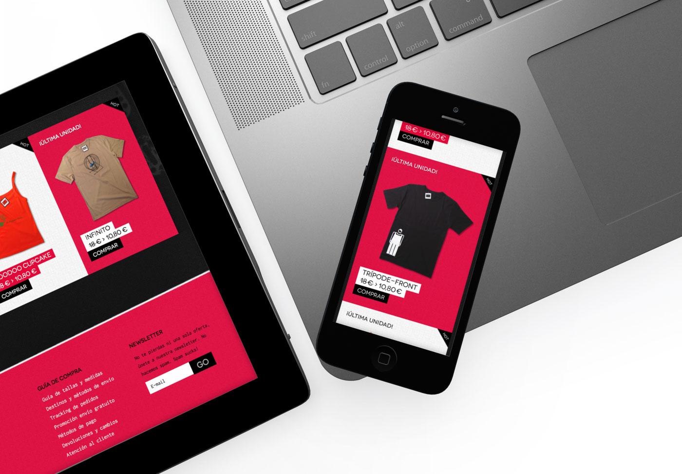 diseño de comportamiento responsivo de página web para Caravelusa