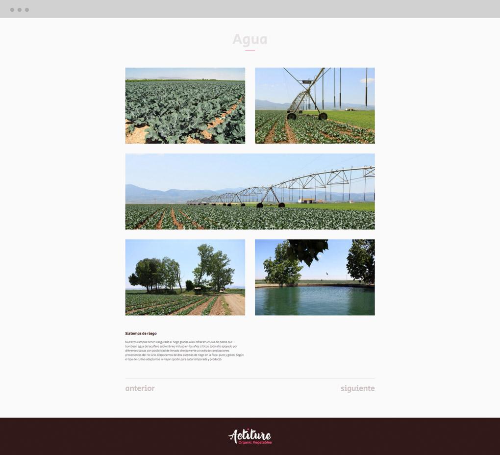 página web actiture.bio galería
