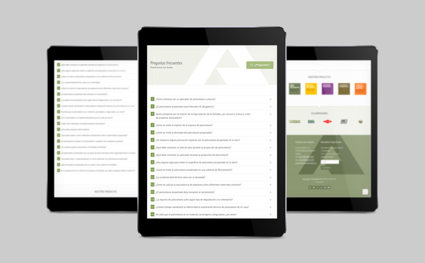 diseño de adaptión móvil de tienda online de Grupo Aismar