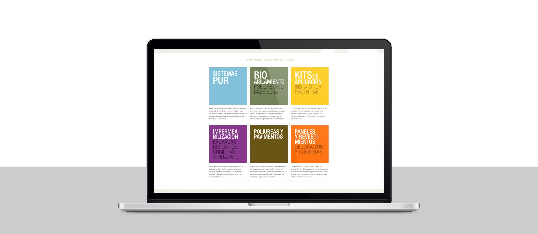 diseño de tienda online para distriubuidora de aislamiento y pavimentos