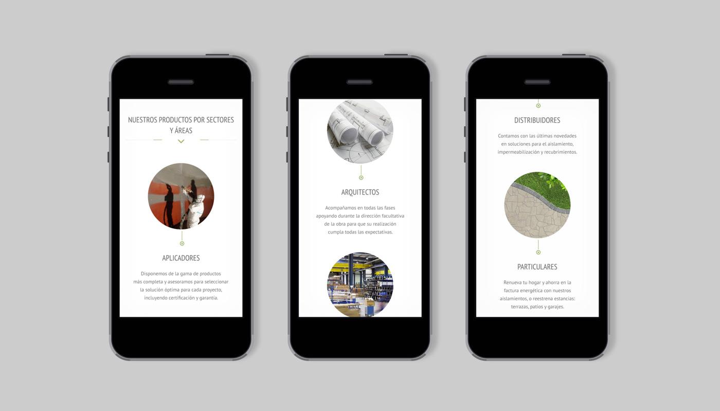 diseño de web en móviles para Grupo Aismar