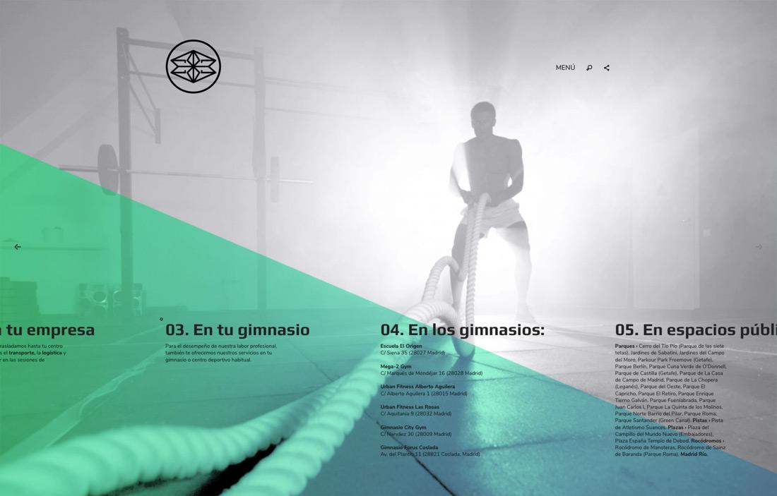 vista de diseño de slide de servicios para Éxito 28 Madrid