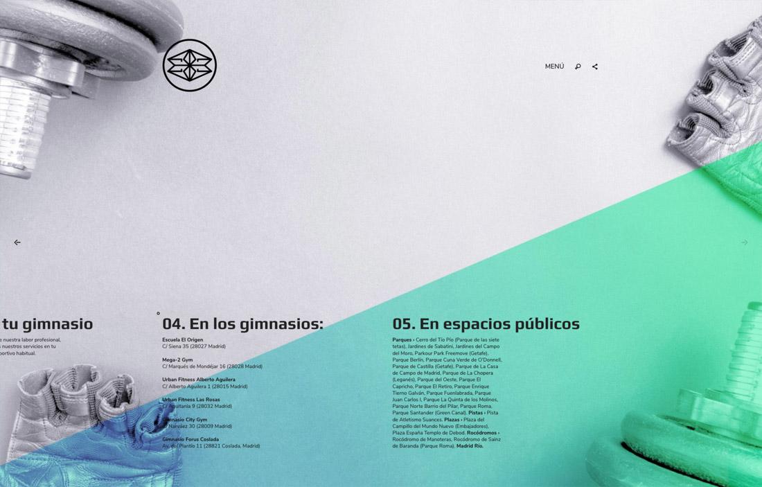 diseño de presentación de servicios online para Éxito 28 Madrid